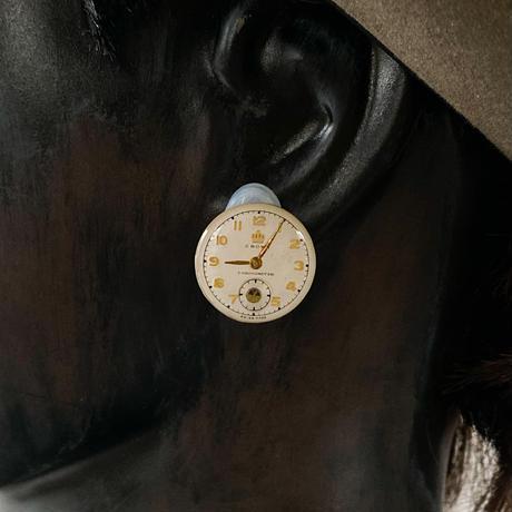 antique dial earrings【K0597】