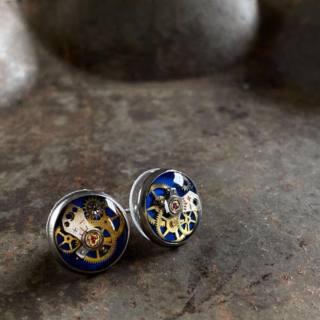 CLOPOA petit pierced earrings blue【K0596】