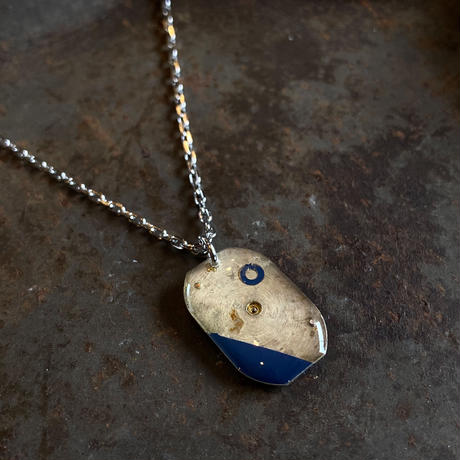 antique square dial necklace 【K0546】