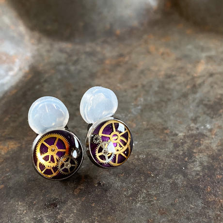 【new】CLOPOA petit pierced earrings purple【K0529】
