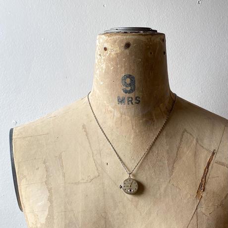 """antique dial&movement reversible necklace """"citizen""""【K0540】"""