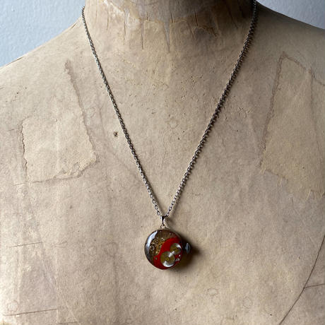 antique dial&movement colors reversible necklace red