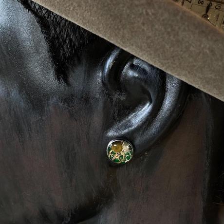 CLOPOA petit pierced earrings green【K0543】