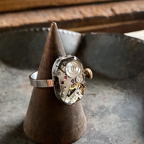 antique movement ring(non adjust) #18【K0599】