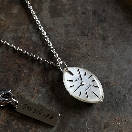 antique teardrop dial necklace【K0590】
