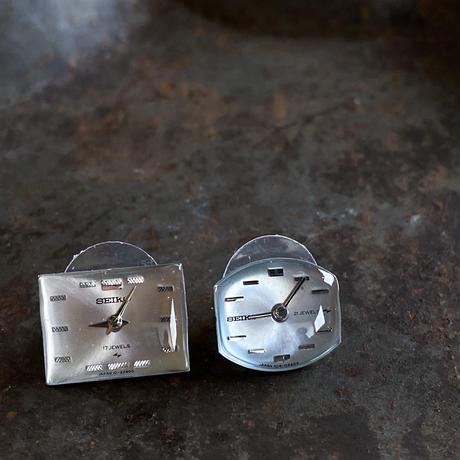 【new】antique dial pierced earrings【K0534】