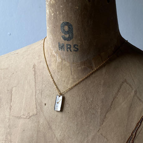 antique dial necklace K18GP 【K0600】