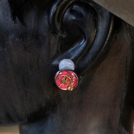 CLOPOA standard earrings pink【K0561】