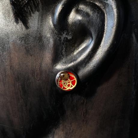 【new】CLOPOA petit pierced earrings red【K0535】
