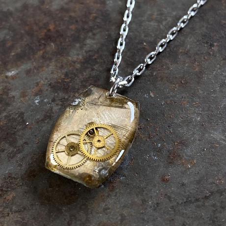 antique unique dial necklace【K0531】