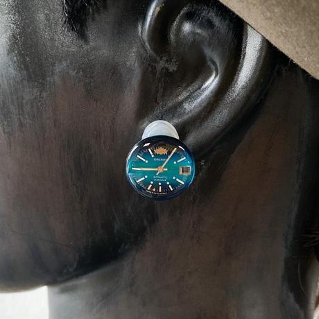 antique color dial earrings【K0593】