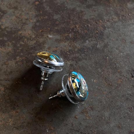 CLOPOA petit pierced earrings skyblue【K0549】