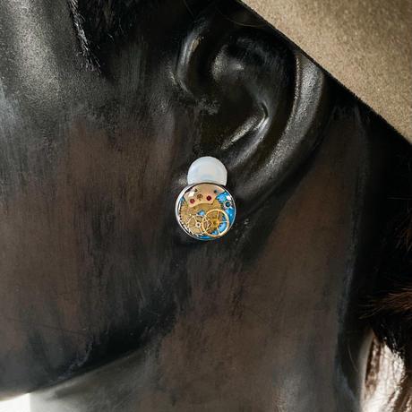 CLOPOA standard earrings skyblue【K0601】