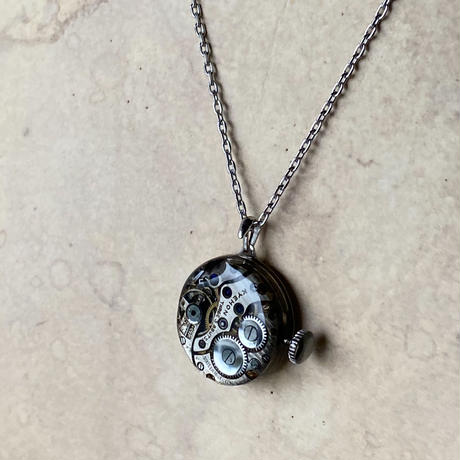 【STYLES】antique dial&movement reversible necklace 【K0457】