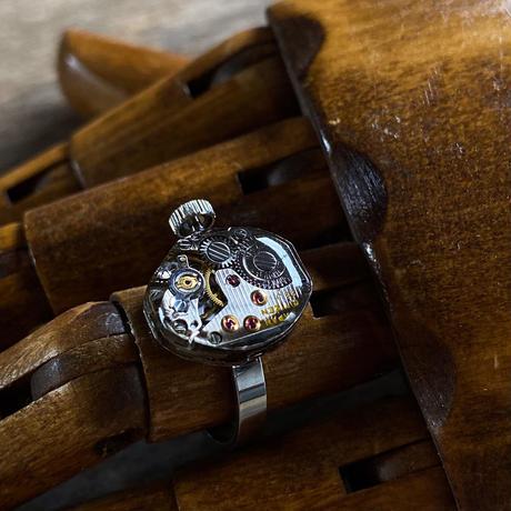 antique movement ring (non adjust) #16【K0595】