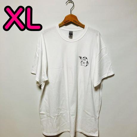 【XL】白ワンポイントカッパTシャツ