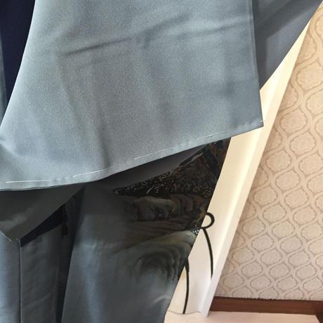 【KIMONO】ヴィンテージ浮世絵ロング着物ガウン