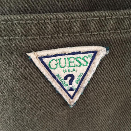 【USA製】90s GUESS カーキ オーバーオール