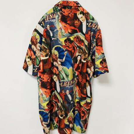 【オカルト】西洋サタンデザイン柄シャツ