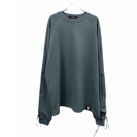 Sleeve gather pullover