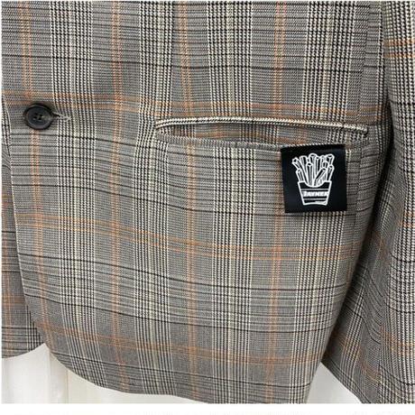 Glen check jacket