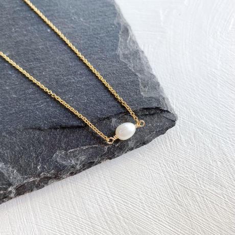 [即納] 14kgf/6月誕生石小さな「淡水パール」のネックレス