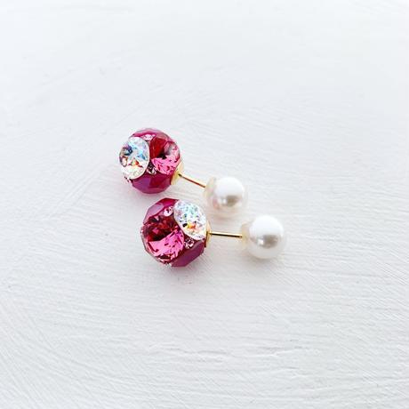 [14kgf] キャンディプチジュエル(ピンク系サイズM)×貝パールピアス