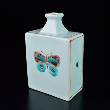 瀧田 項一 上絵蝶文角瓶