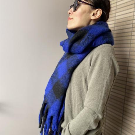 Echarpe ECHIQUIER COULEUR (Blue)