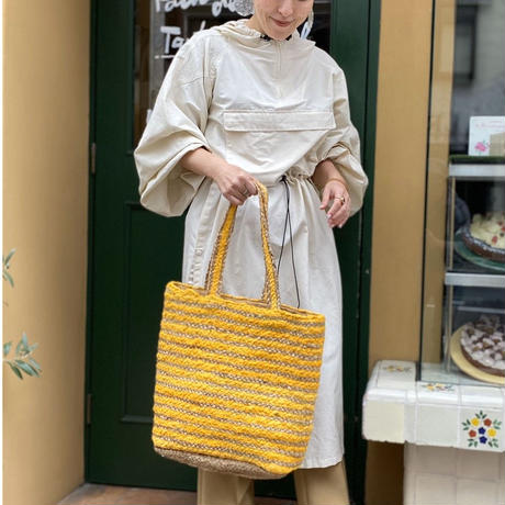 Jute basket (yellow)
