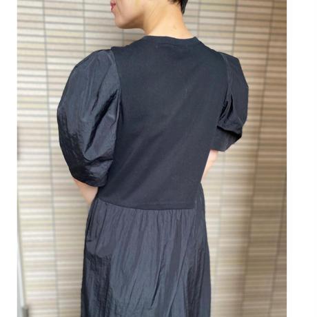 【LONGBEACH】TAFFETA SWITCHING DRESS