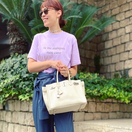 Color magic T-shirt (Light purple)