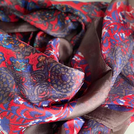 slik scarf de Paris(rouge)