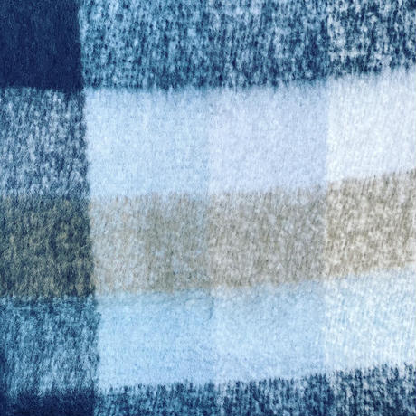 check fringe scarf(Light blue)