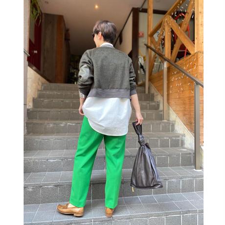 【LONGBEACH】GREEN TUCK PANTS