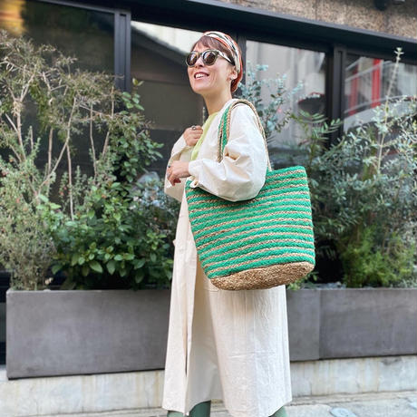 Jute basket (green)
