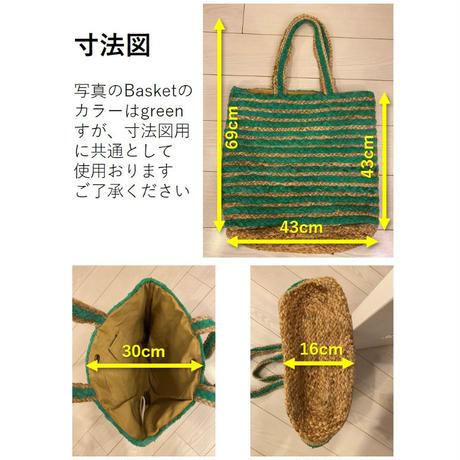 Jute basket (multi-color)