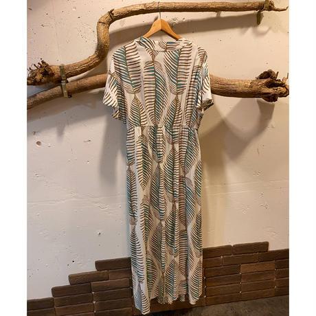 Vneck maxi summer dress(Natural)