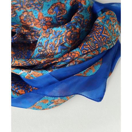 slik scarf de Paris(orange)