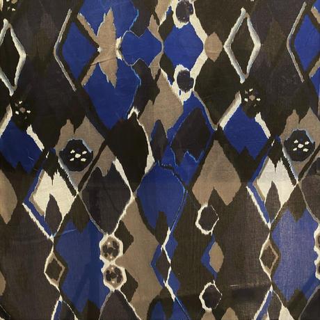 Écharpe motif IKAT  (Deep blue)