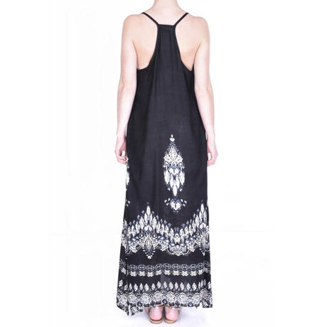 Long Dress with thin strap(Black)