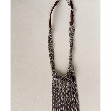 chain fall necklace (Silver)