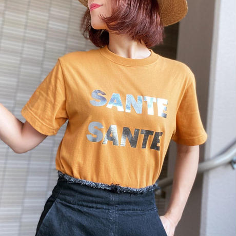 Color magic T-shirt(Camel×Silver)