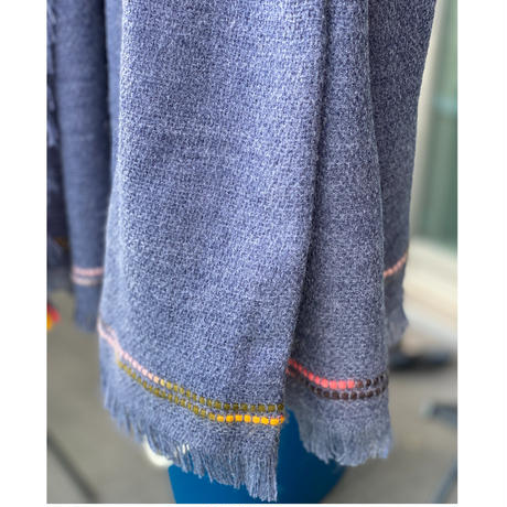 Big square scarf(deep blue)