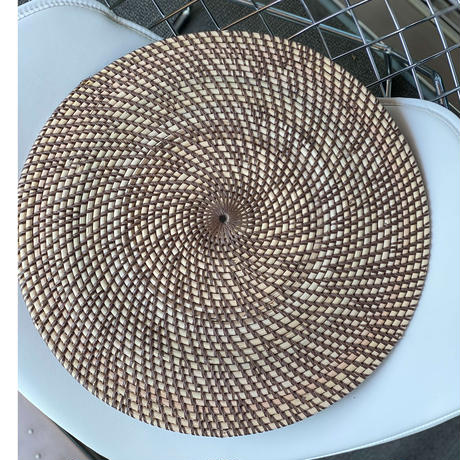 【rattan table mat】BROWN(4枚セット)