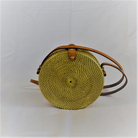 Metallic circle rattan bag (Gold)