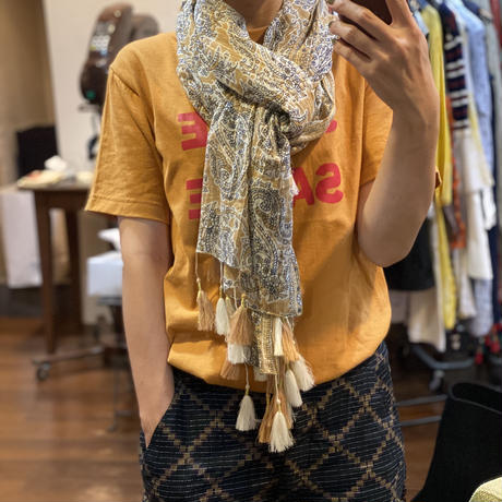 Paisley Cotton Scarf (Marron)
