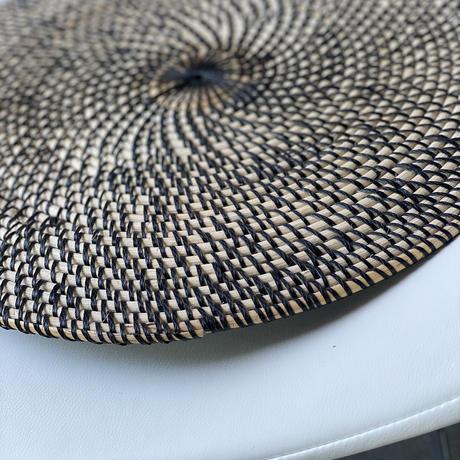 【rattan table mat】BLACK(4枚セット)