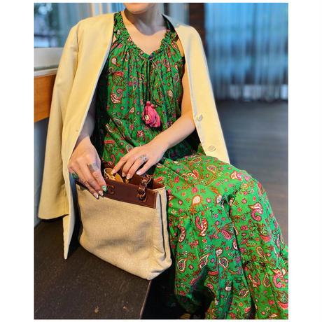singlet cotton dress(GREEN)