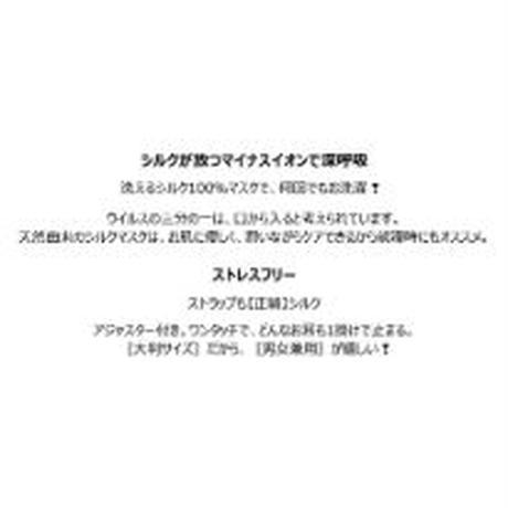 洗える シルク マスク【正絹】 No3095 メール便送料無料